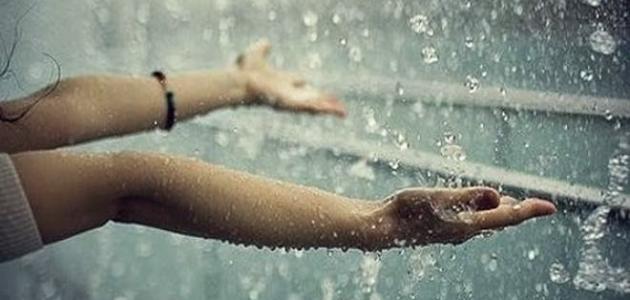 صور شعر عن المطر , ابيات عن سقوط المطر