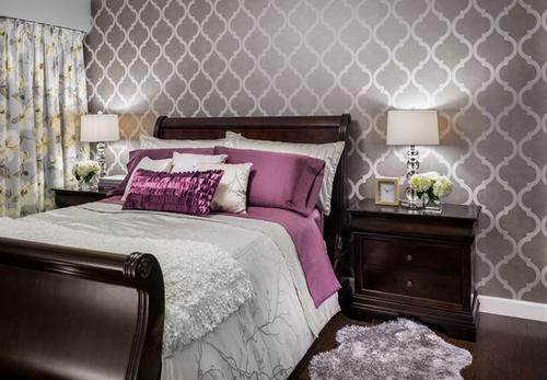 بالصور ورق جدران لغرف النوم , اجمل ديكورات لورق الحائط لغرفة النوم 6386 3