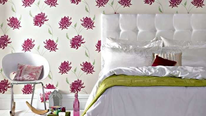 بالصور ورق جدران لغرف النوم , اجمل ديكورات لورق الحائط لغرفة النوم 6386 8