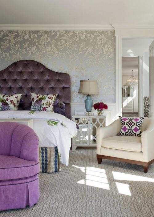 صور ورق جدران لغرف النوم , اجمل ديكورات لورق الحائط لغرفة النوم