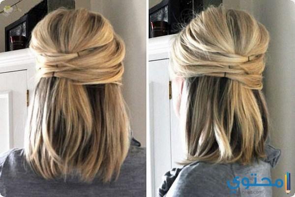 بالصور تسريحات شعر بسيطة , اسهل تسريحة للشعر بشكل بسيط 6585 6