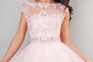 صورة فساتين قصيرة منفوشة , انواع الفساتين المنفوشة