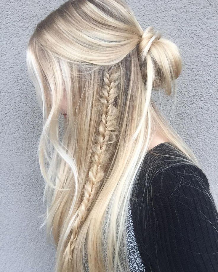 صورة تسريحات للشعر الطويل بسيطة , الشعر الطويل وتسريحاته 2747 1
