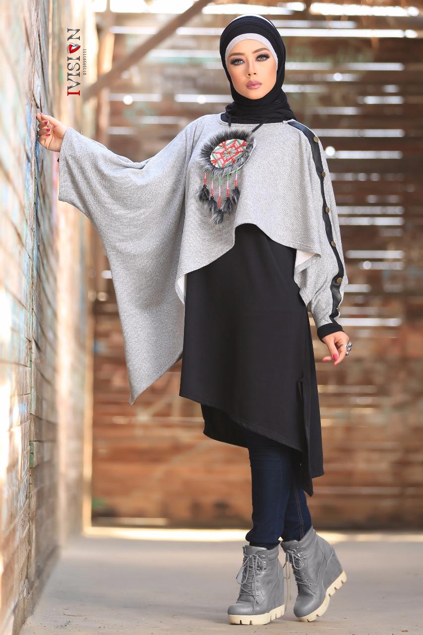 بالصور موضة شتاء 2019 للمحجبات , لباس الشتاء للمحجبات 2019 1633 7