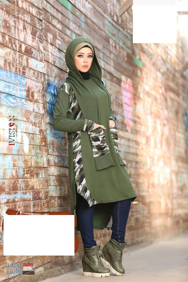 بالصور موضة شتاء 2019 للمحجبات , لباس الشتاء للمحجبات 2019 1633 8