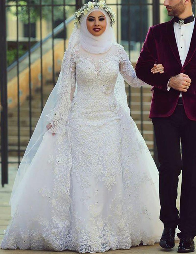 بالصور صور عرايس محجبات , اجمل صور لموديلات فساتين زفاف محجبات 3460 10