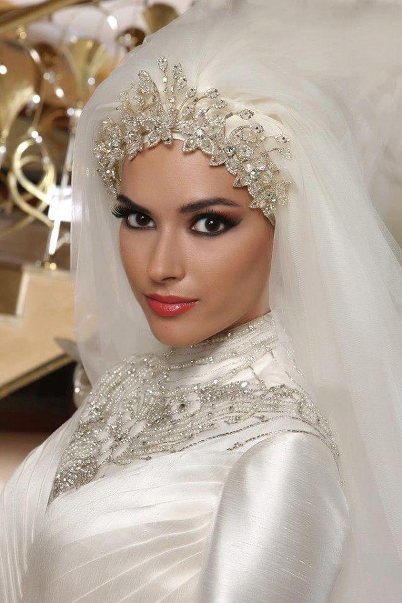 بالصور صور عرايس محجبات , اجمل صور لموديلات فساتين زفاف محجبات 3460 3