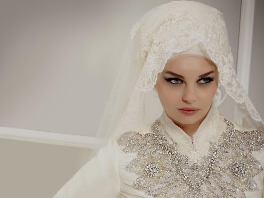بالصور صور عرايس محجبات , اجمل صور لموديلات فساتين زفاف محجبات 3460 4