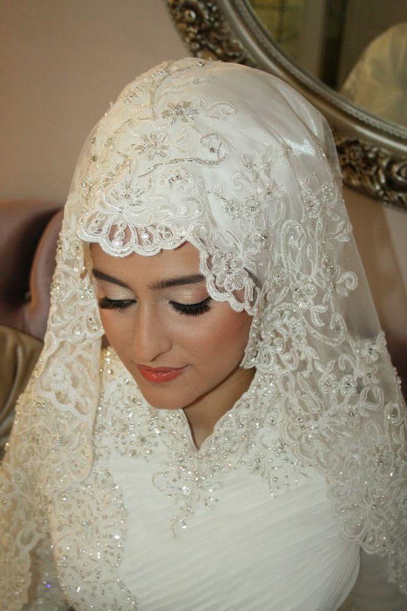 بالصور صور عرايس محجبات , اجمل صور لموديلات فساتين زفاف محجبات 3460 7