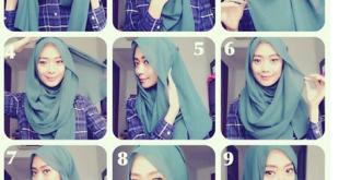 صور طرق لف الحجاب , شاهد اجمل طرق للف الحجاب