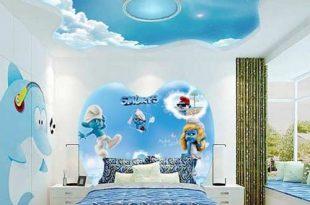 صورة ديكورات جبس غرف نوم اطفال , تشكيله تصميم ديكور غرف