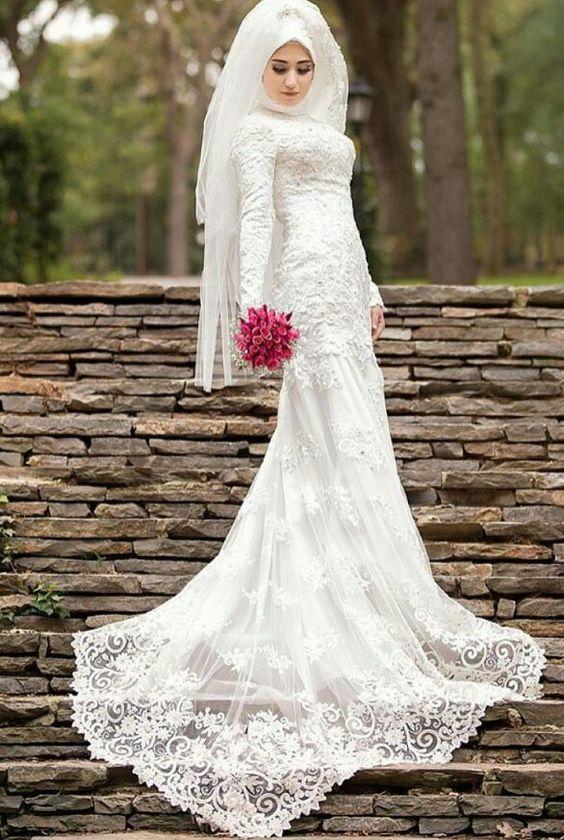 بالصور فساتين اعراس للمحجبات , صور اجمل عروسه محجبه 5407 10