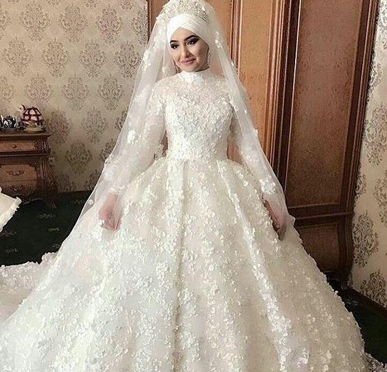 بالصور فساتين اعراس للمحجبات , صور اجمل عروسه محجبه 5407 11