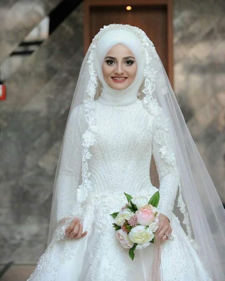 بالصور فساتين اعراس للمحجبات , صور اجمل عروسه محجبه 5407 12