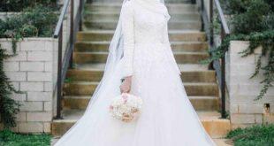 صور فساتين اعراس للمحجبات , صور اجمل عروسه محجبه