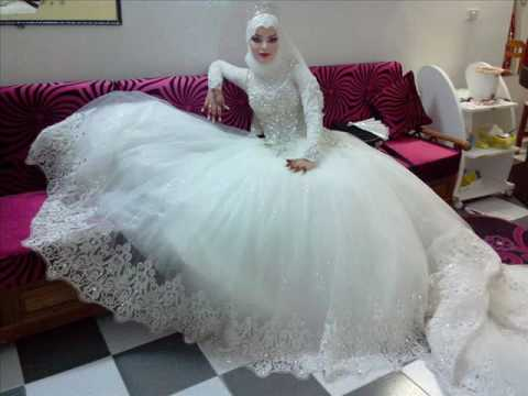 بالصور فساتين اعراس للمحجبات , صور اجمل عروسه محجبه 5407 2