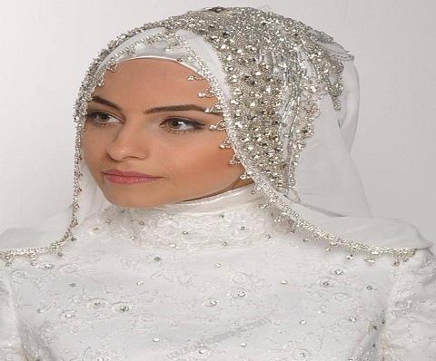 بالصور فساتين اعراس للمحجبات , صور اجمل عروسه محجبه 5407 8