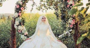 صورة فساتين زفاف للمحجبات , كونى اميرة بفستان عرسك الرائع