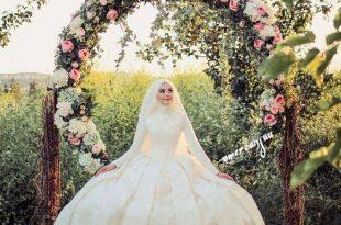 صوره فساتين زفاف للمحجبات , كونى اميرة بفستان عرسك الرائع