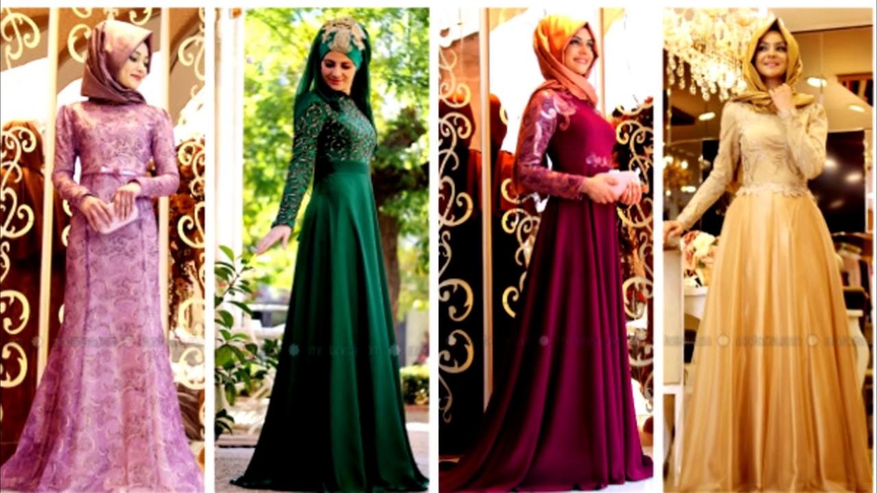 صور فساتين تركية للمحجبات , اجمل موديلات الفساتين التركي