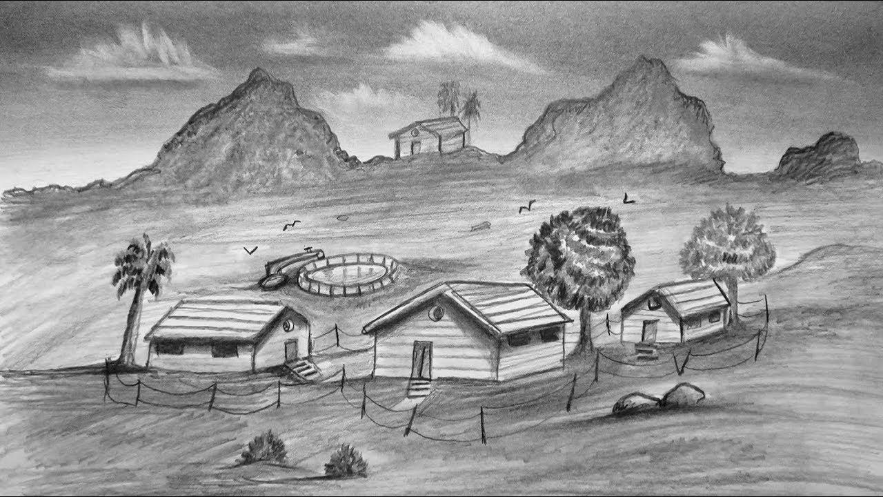 بالصور رسم منظر طبيعي , مناظر خلابه ترسم باليد 1947 3