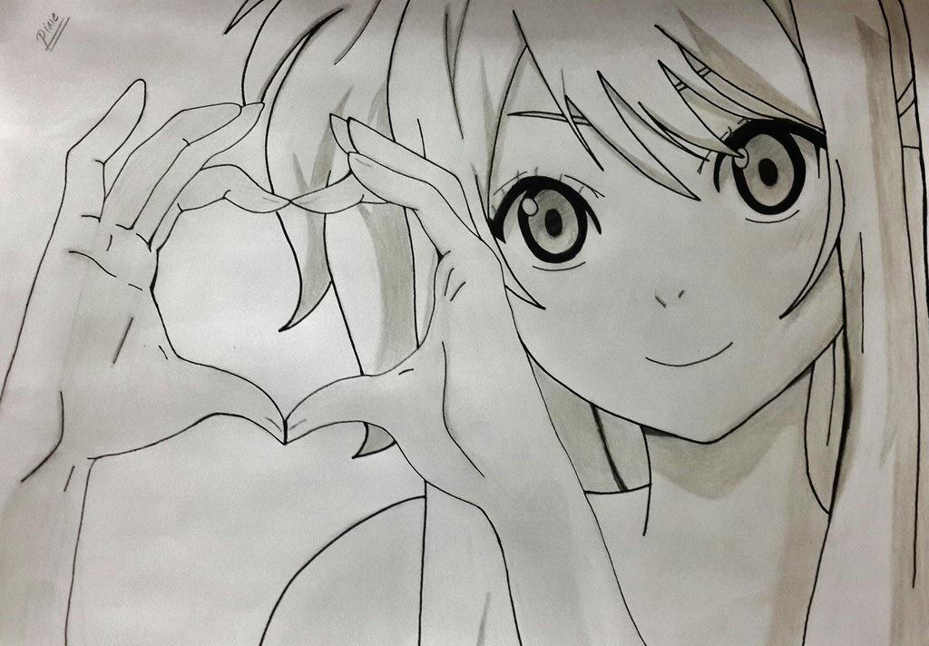 بالصور رسم انمي , شخصيات كرتونيه بالرسم باليد 3896 6