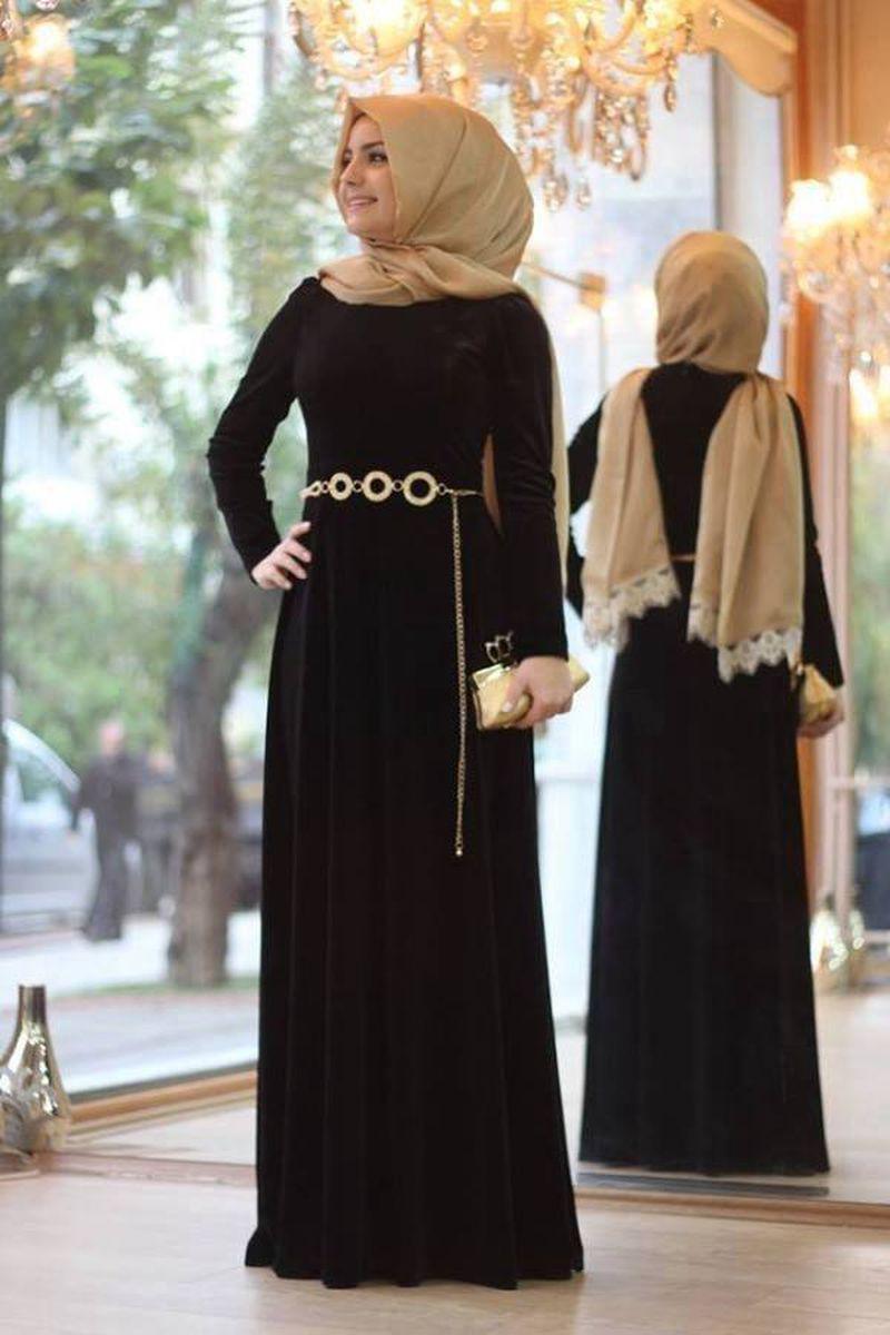 صور اجمل الفساتين للمحجبات , اشيك انواع الفساتين للمحجبات
