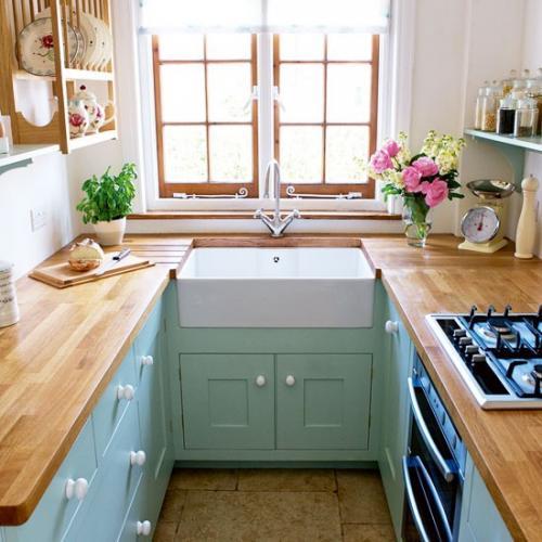 صور ديكورات مطابخ صغيرة , ابدعات المساحات الصغيره للمطابخ