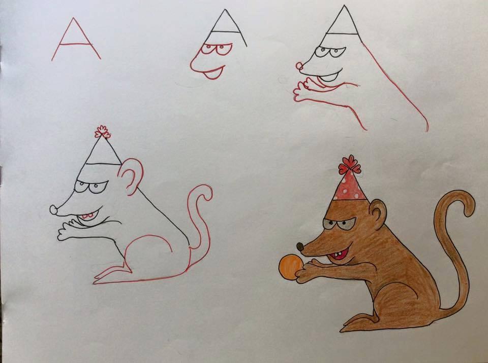 بالصور رسومات جميلة وسهلة , كيف اعلم ابني الرسم 993 1