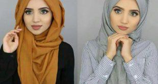 صور بالصور لف الحجاب , طرق جديده لف الحجاب
