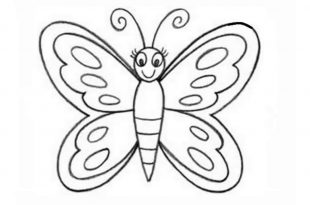 صور تعليم رسم الفراشة , رسومات