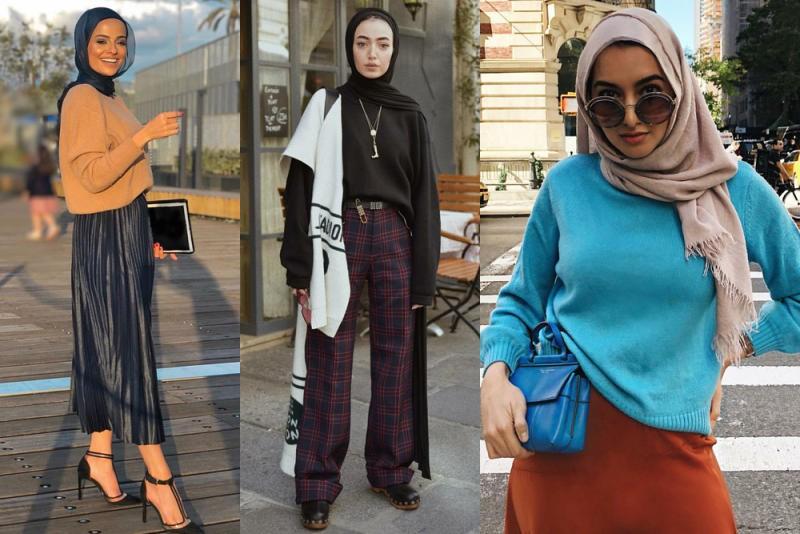 صورة موضة 2019 للمحجبات , ازياء 2019 لنساء بالحجاب