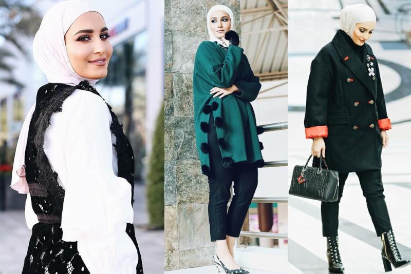 صورة ملابس شتوية للمحجبات , موديلات ثياب الشتاء بالحجاب