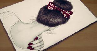 صورة رسومات بنات سهله , اجمل رسم فتيات بسيط