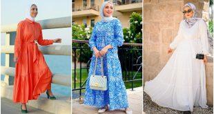ملابس العيد للبنات الكبار المحجبات
